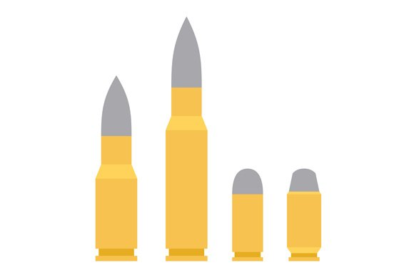 Weapon Bullet Icons Set