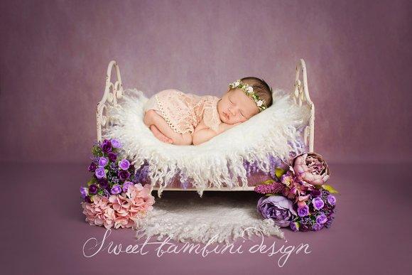 Newborn Photography Digital Backdrop in Photoshop Layer Styles