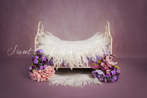 Newborn Photography Digital Backdrop in Photoshop Layer Styles - product preview 1