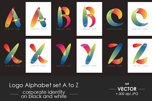 Logo alphabet A to Z