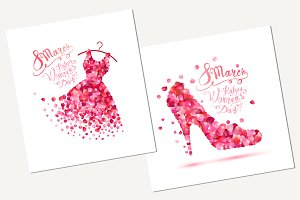 Happy woman's day! 8 march cards.