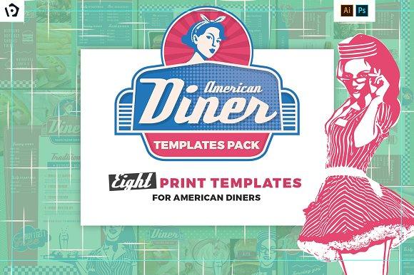 american diner menu templates pack brochure templates creative