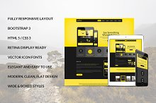 Yellow Bootstrap Responsive Template