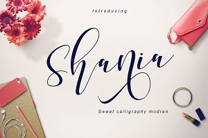 Shania sweet calligraphy + Bonus