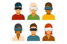 Virtual Reality Glass Avatar Set