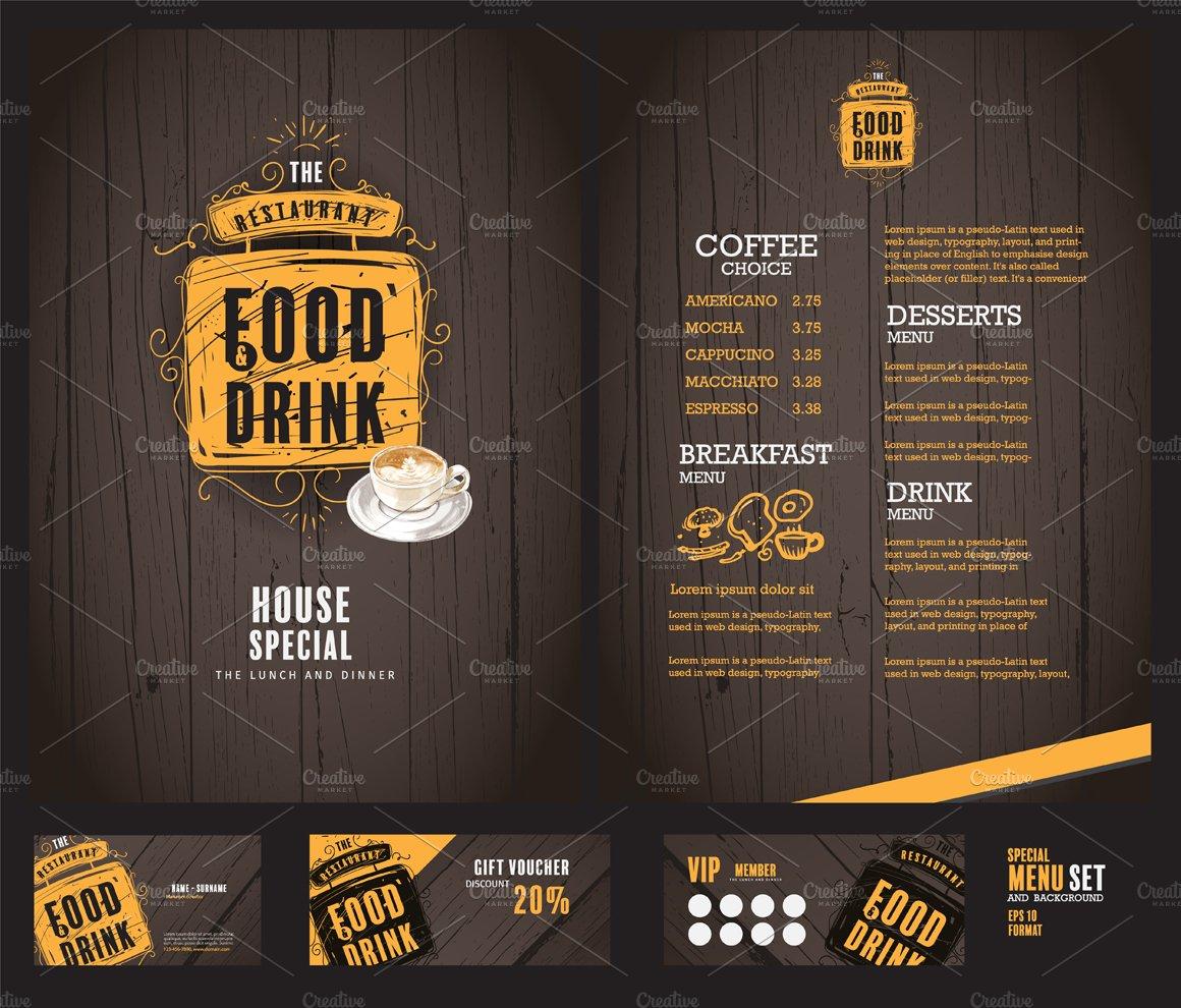 creative menu design. ~ product mockups ~ creative market