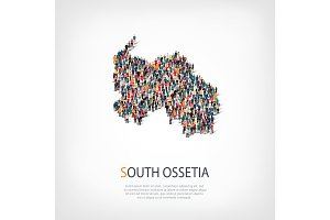 people map country South Ossetia vector