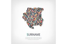 people map country Suriname vector