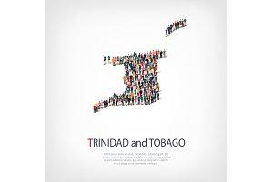 people map country Trinidad and Tobago vector