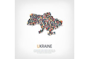 people map country Ukraine vector