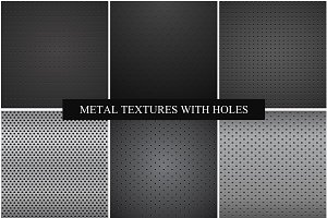 Metallic dark textures with holes.