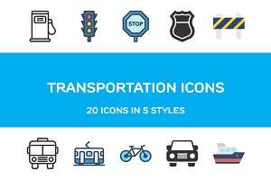 Transportation Icons
