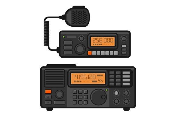 Police Car Radio Transceiver Set