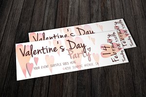 Valentine`s Day Party Ticket