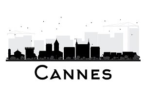 Cannes City skyline