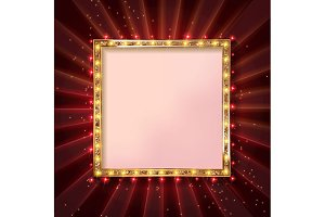6 Square glowing frames