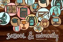 School and University Sketch Set