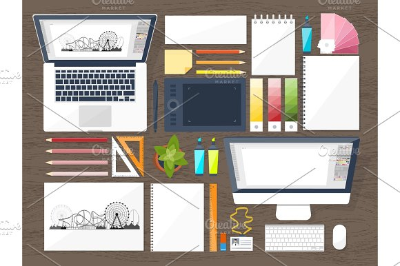 Graphic Web Design Drawing And Painting Development Illustration Sketching Freelance User Interface UI Computer Laptop