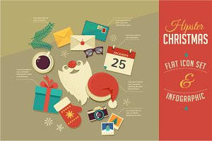 Christmas Infographics / flat icons