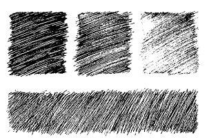 Grunge ink textures set