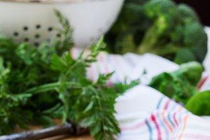 Organic fresh vegetables
