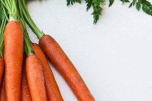Bunch of organic fresh carrots