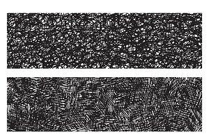 Grunge pencil textures set