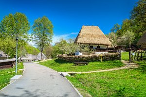 Traditional peasant houses, Romania
