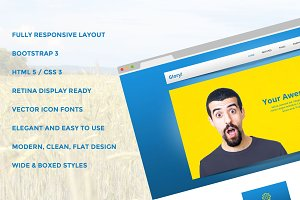 Glory Bootstrap Responsive Template