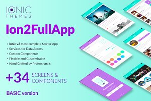 Ion2FullApp - Ionic 2 Starter App
