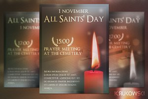 All Saints Day Flyer