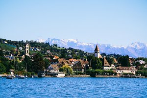 lake zurich in summer