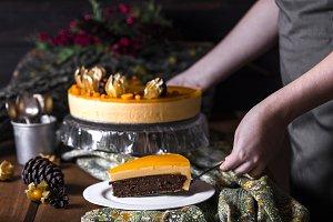 Cake of sea buckthorn