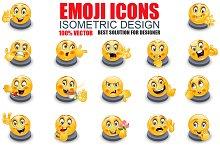 Isometric Emoticon Emoji Set