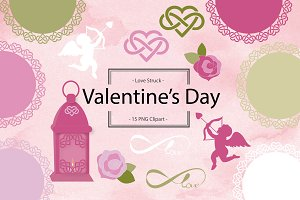 Cupid Valentine Clipart and Doilies