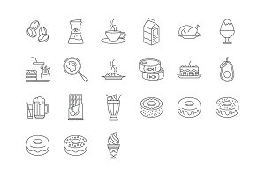 21 Food and Drinks Icons