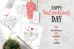 Happy Valentines Day. Love cards.
