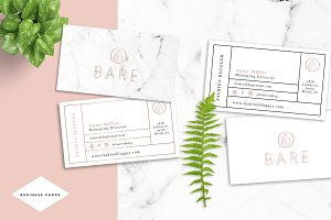 Bare Fashion Business Card Template