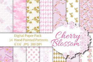 Cherry Blossom Digital Paper