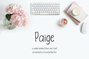 Paige | HANDWRITTEN FONT