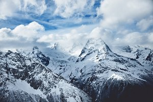 Dramatic mountains photo