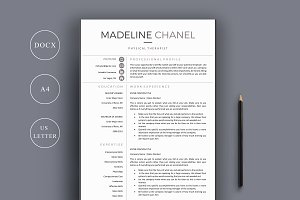 Resume Template 4 Page | Therapist