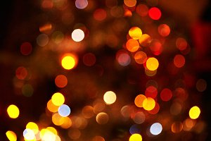 Set of various warm bokeh