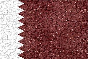 Qatar Grunge Flag