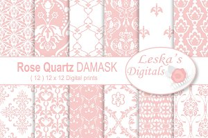Pink Damask Digital Paper