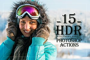 15 HDR Effect Photoshop Actions Set