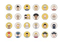32 User Avatars Icons