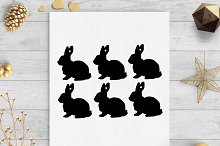bunny easter gift tags
