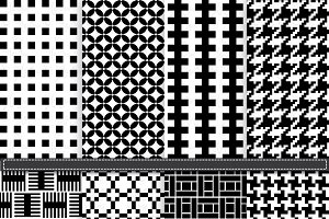 Black & White Pattern Digital Paper
