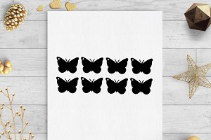 butterfly gift tags svg & dxf files